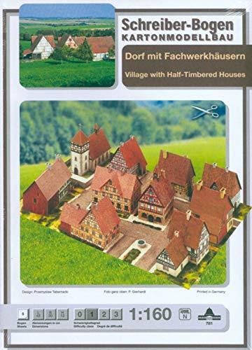 Schreiber-Bogen Kartonmodellbau, Dorf mit Fachwerkhäusern