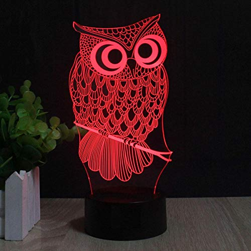 3D NIGHT LIGHT All Kinds of Owl 3D Night Light RGB Changeable Mood Lamp LED DC 5V USB Decorative Table Lamp Baby Sleeping Nightlight 7 Colors Birthday gifts for children