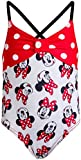 Disney Baby Girls Infant Minnie Mouse One-Piece Swimsuit, Size 12 Months, Red Miinnie Print