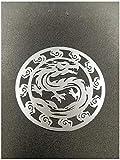BBTY 2 PCS Metal Gold Silver Dragon Badge Chrome Logo Etiqueta Etiqueta Celular Etiquetas Pegatinas para Portátil iPhone Coche iPad O Casco (Color Name : Silver, Style : Style27)