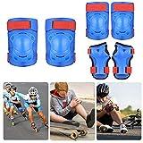 Delaspe- Conjunto de rodilleras para niños y equipo de protección deportivo, transpirable, ajustable, para patinete en línea