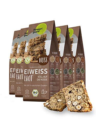 Pumperlgsund Brotbackmischung Eiweiß Brot, Bio und Glutenfrei (12 x Nuss), 17,81 €/kg
