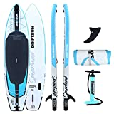 Driftsun Spearhead Inflatable Paddleboard ISUP - 11ft Stand Up Paddleboard with Paddle, Fin, Leash and Carry Bag (Sport)