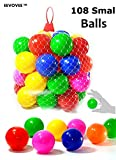 EEVOVEE 108 pcs Color Balls for Kids / Pool Balls Genuine Quality Set
