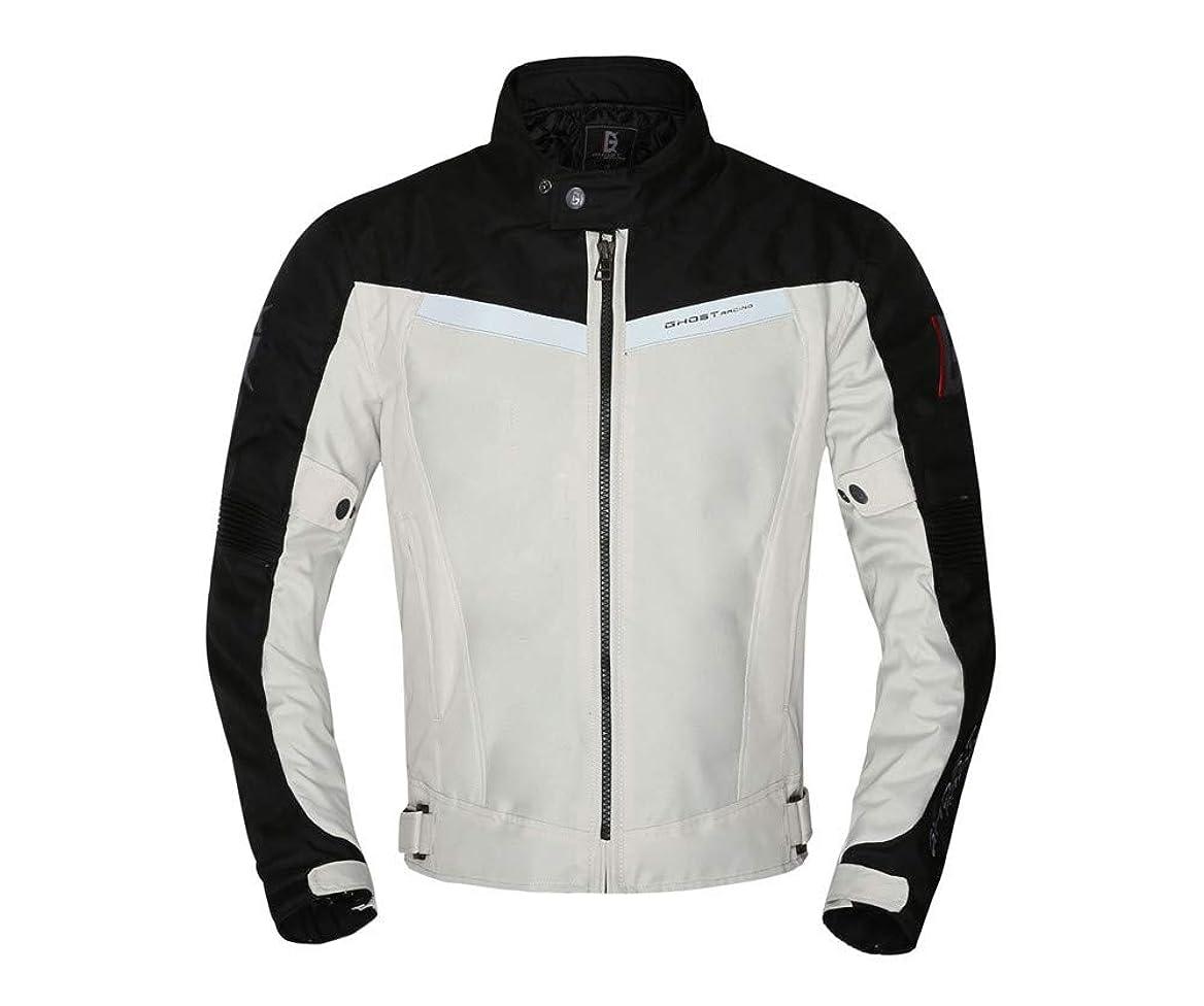 毛皮コカインはちみつGHOST RACING バイクジャケット バイクスーツ 防風防寒オックスフォード 保温 レーシング ライダースジャケット プロテクター付き メンズ