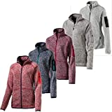 McKINLEY Damen Skeena Fleecejacke, Melange/Red Wine, 46