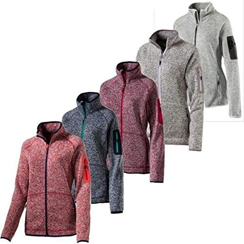 McKINLEY Damen Skeena Fleecejacke, Melange/Red Wine, 50