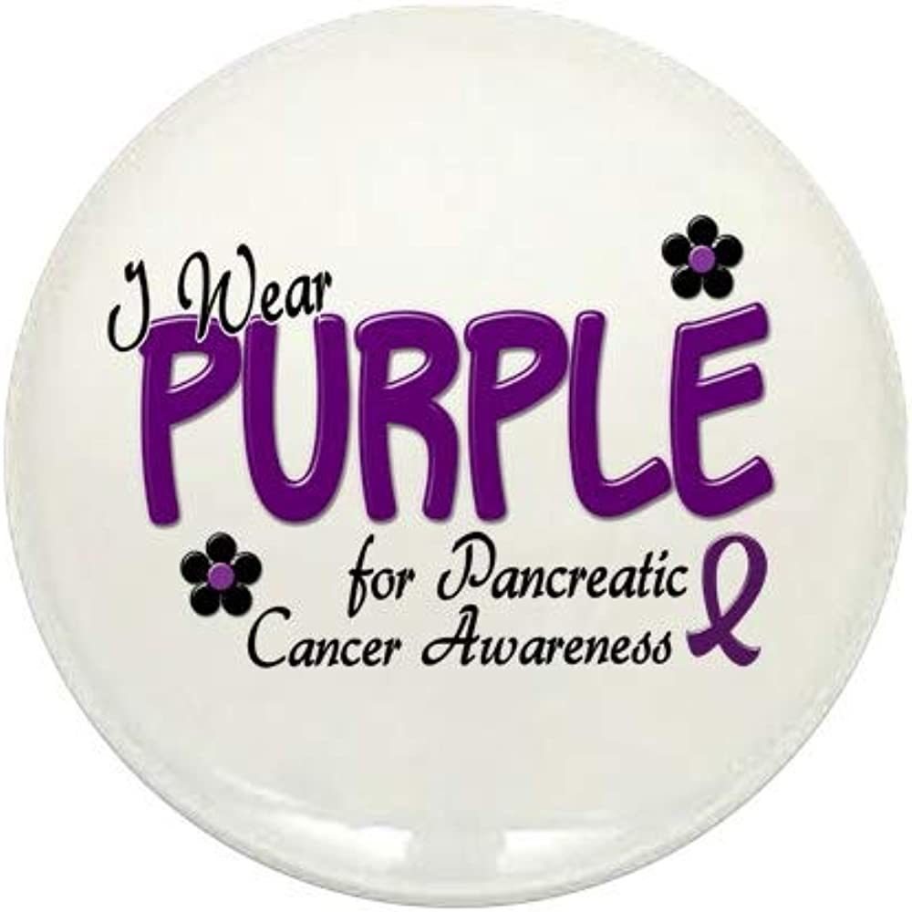 CafePress I Wear Purple For Awareness Button Mini Bombing new work Max 73% OFF Round 14 1
