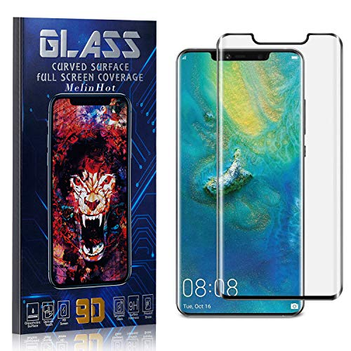 MelinHot Displayschutzfolie für Huawei Mate 20 Pro, Anti Fingerabdruck, Ultra Dünn Blasenfrei Schutzfolie aus Gehärtetem Glas für Huawei Mate 20 Pro, 4 Stück