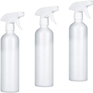 Qosea スプレーボトル アルコール対応 500ml 3個 大容量 霧吹き 噴霧器 極細ミスト 空ボトル 手指消毒機 家庭用 詰替ボトル 滅菌器 軽量 消毒剤 遮光 ホワイト