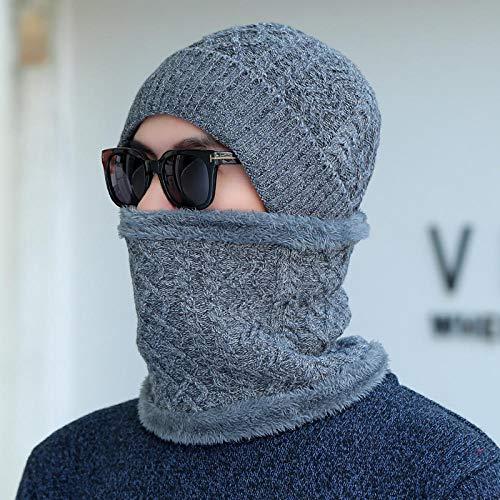 DJBNMZI Heren Hoed Sjaal Suit Winter Warm Knit Casual Losse Wollen Voering Outdoor Cap