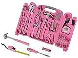 Werkzeugkoffer in PINK mit Werkzeug in PINK. Originelle Geschenkidee für Frauen (Schwester, Mama, beste Freundin etc.). Lustiges Einweihungsgeschenk & Einzugsgeschenk für Haus & Wohnung