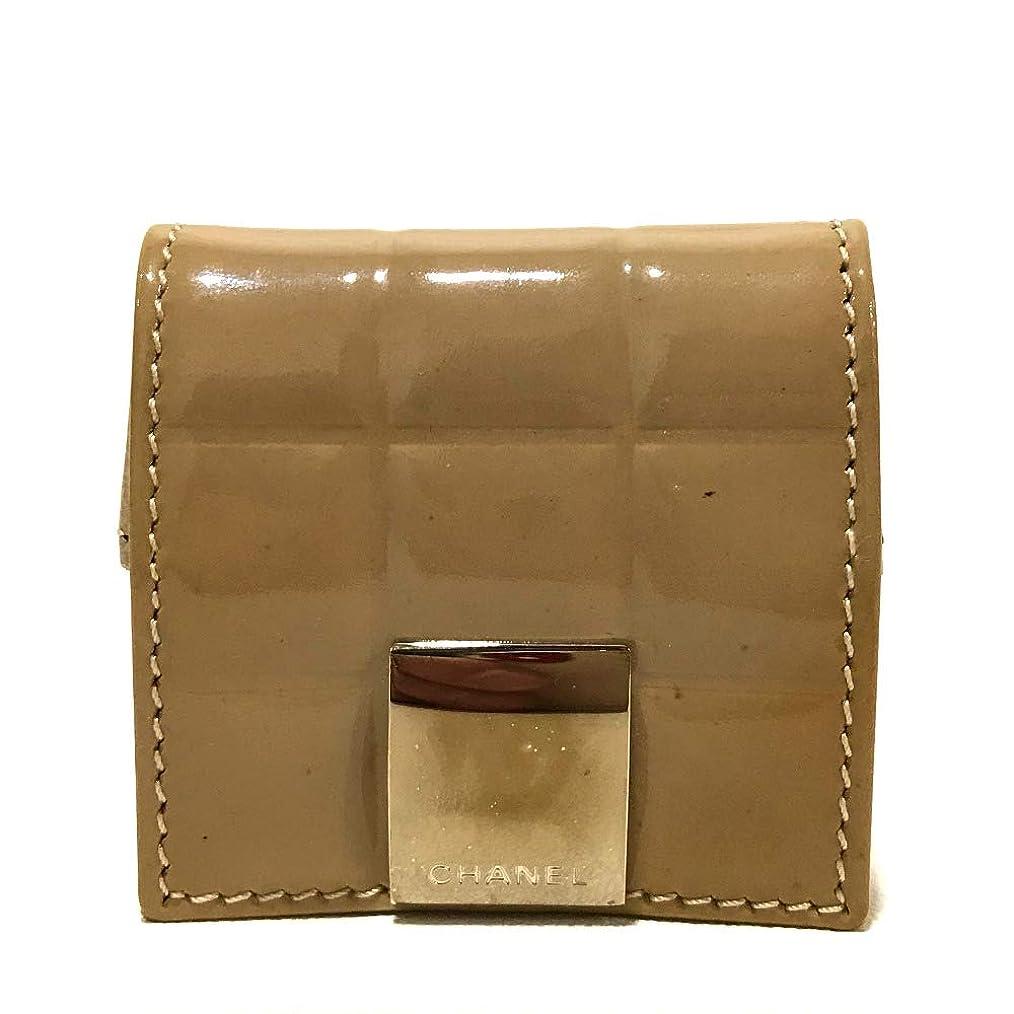 性交偽物推進(シャネル)CHANEL A19273 チョコバー 小物入れ 小銭入れ 財布 コインケース パテントレザー レディース 中古