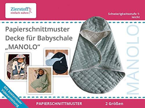 Zierstoff einfach nähen PAPIERSCHNITTMUSTER, Decke für Babyschale Manolo
