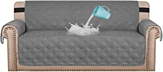 """Best H.VERSAILTEX 100% Waterproof Sofa Protector Cover Couch Covers for Dogs / Pets   Sofa Covers for 3 Cushion Couch Leather Sofa Slipcovers with Non Slip Backing (Seat Width 68"""", Grey) Review"""