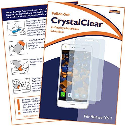 mumbi Schutzfolie kompatibel mit Huawei Y5 II Folie klar, Displayschutzfolie (2X) - 2