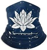 Namaste Symbole avec fleur de lotus - Cagoule respirante - Housse de visage en microfibre - Pour unisexe