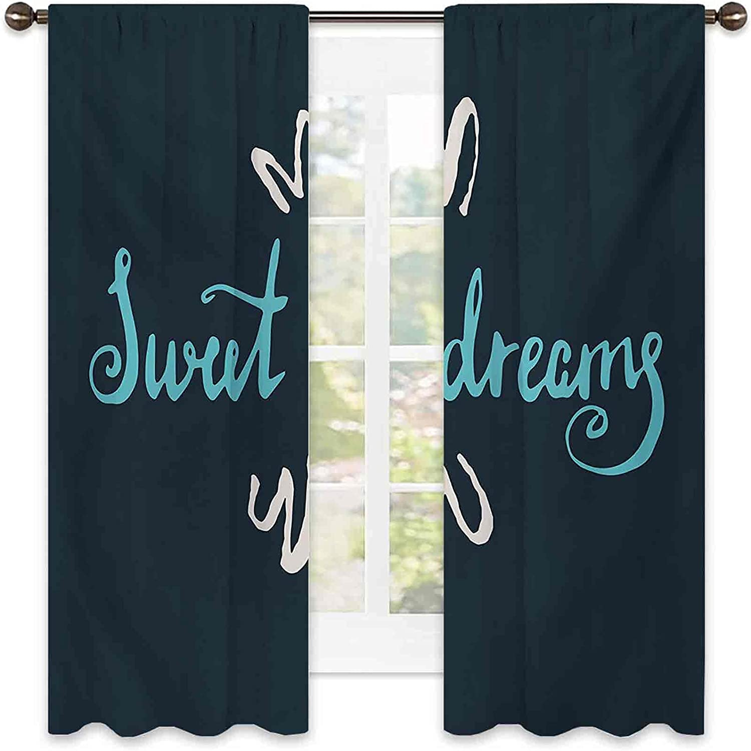 90% Blackout Sweet Max 57% OFF Dreams Curtains Drawn Hand Modern Style Lett Cheap super special price