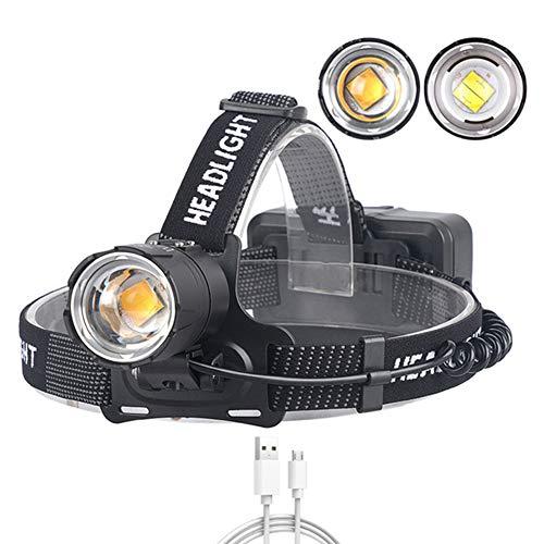 70,2 koplampen, USB opladen ingang en uitgang zoom Power-display voert XHP70 grote lens schijnwerper voor vissen/vuurtoren camping