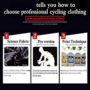 MLyzhe - Conjunto de maillot de ciclismo para hombre, manga larga, con pantalones cortos acolchados de gel 3D, conjunto de ropa de ciclismo para bicicleta de montaña de carretera, rojo, M