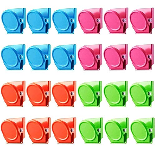 24 Pack Magnetic Clips, Magnetic Metal Clips, Refrigerator Whiteboard Wall Fridge Magnetic Memo Note Clips Magnets Metal Clip