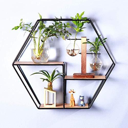ウォールシェルフ 六角形の棚
