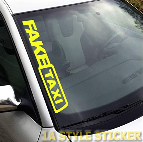 Fake Taxi Aufkleber Frontscheibe Sticker Taxi Tuning-Aufkleber, Auto-Sticker