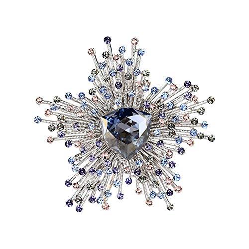 KEKE Frauen Elegante Kristall Perle Brosche Weihnachten Schneeflocke Desugn Brosche Schal Mantel Clip Für Hochzeit