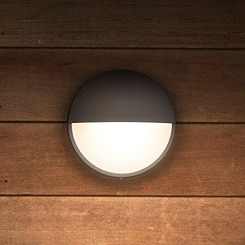 Philips myGarden Capricorn - Aplique, iluminación exterior, 6 W, corriente alterna, LED, aluminio, diseño moderno, blanco cálido, color antracita