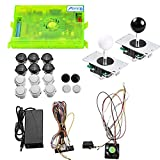 TAPDRA 3A Original Pandora's Box 6 Arcade Board Full DIY Kit, 1300 Retro Games with Buttons/joysticks/Harness Cable/Power, Support Add Games, HDMI VGA Output