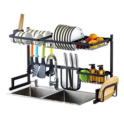 Con el fregadero estante para platos, la cocina sobre la plataforma del fregadero de acero inoxidable sobre el fregadero Tendedero