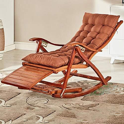Recliner Dampfer Leisure Lounger Wicker Chair Reclining Sunloungers Klappbare Gepolsterte Versenkbare Fußstütze für Schlafzimmer Garten Patio, 99 X 23 X 64 cm