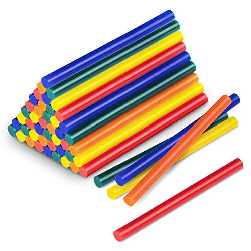 TROTEC Juego de barras de pegamento termofusible en color, 50 unidades (Ø 11 mm) - Para pegar y decorar madera, plástico, textiles, cartón, papel, cerámica, cuero, corcho, vidrio y metal
