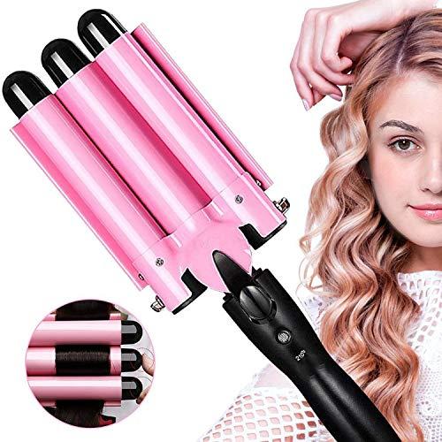 Haarkrultang, Krultangstang Kan De Temperatuur Aanpassen, Curling Bubble Styling Tool 3 in 1 Stylingtool, Geschikt Voor Alle Haartypes