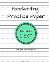 Handwriting Practice Paper (Notebook with Dotted Lined Sheets for K-3 Students)