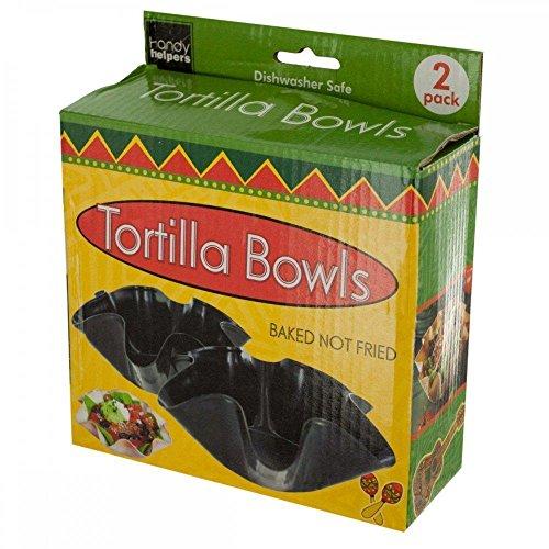 Handy Helpers Taco salad shells salsa amp guacamole dip bowls and much moreBlack