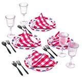 Playgo Geschirr Speiseservice für Spielküche Dinner für 4