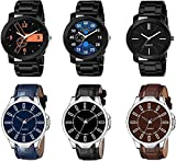 RPS FASHION WITH DEVICE OF R Analogue Men's Watch (Multicolour Dial Multicolored Strap) (Pack of 6)