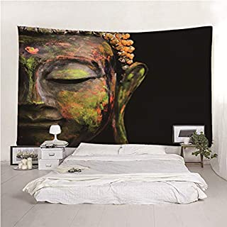 Indien Bouddha Twin Tapestry méditation Mural Rouge Literie Lit Housse
