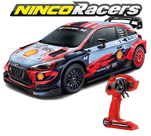 Ninco (NH93163) NincoRacers Hyundai I20 WRC Autoradio-Steuerung, Akku und Ladegerät im Lieferumfang enthalten, ab 6 Jahren