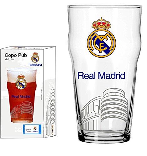Copo Pub 470 Ml Real Madrid Estádio Globimport Transparente