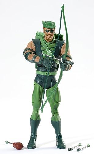 DC Universe Classics - All Star Serie - Grün ARROW mit Figuren Stand und Collector AnStück Button - Figurenh  ca. 15cm