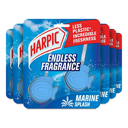 Harpic Toilet Rim Block Cleaner Multipack, Marine Splash, 210g, Pack of 6