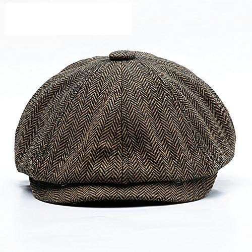 DIDIOI Flat Caps, Unisex Herfst Winter Newsboy Caps Mannen En Vrouwen Warm Tweed Achthoekige Hoed Voor Mannelijke Detective Hoeden Retro chapeau