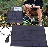DAUERHAFT 5W 5V 0.83A Mini Panel Solar de silicio monocristalino Cargador USB DIY Mini Panel Solar de silicio monocristalino de Alta practicidad para Modelos con alimentación de Bricolaje para el