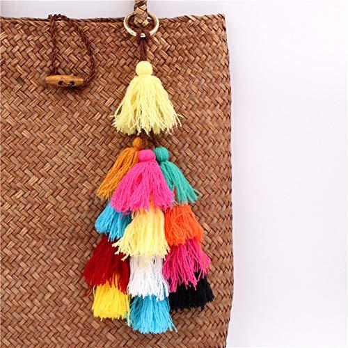XHYKL 1 st kleurrijke kwasten Pompom voor vrouwen portemonnee accessoires tas decoratie hanger