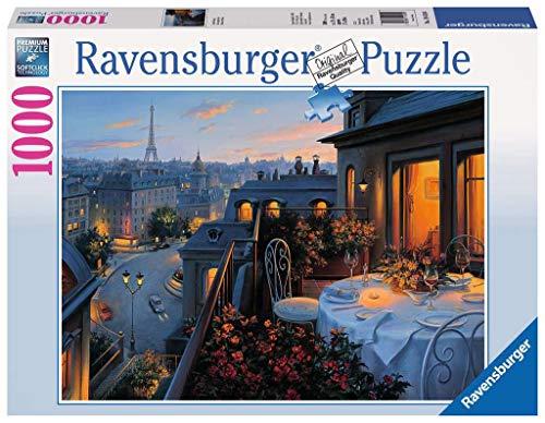 Ravensburger Puzzle 1000 Pezzi, Balcone a Parigi, Collezione Fantasy, Jigsaw Puzzle per Adulti, Puzzle Ravensburger - Stampa di Alta Qualità