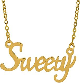 Utkarsh Golden Color Fancy & Stylish Trending Valentine's Day Special Metal Stainless Steel Sweety Name Letter Locket Pend...