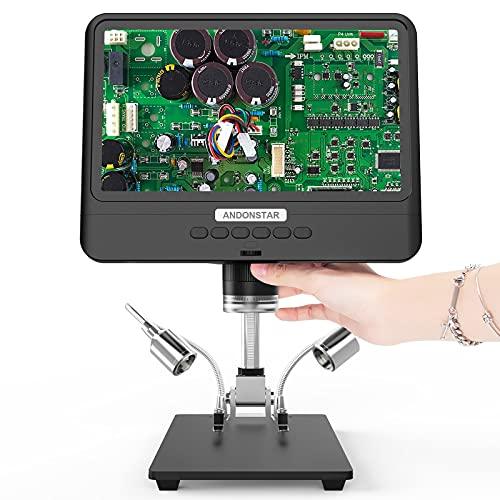 ShiSyan Microscopio Digital 5x-1200x AD208S Herramienta de Soldadura de Alcance LCD de 8.5 Pulgadas AD208S AD208S LCD con Dos Luces de Relleno Microscop Compuesto (Color : with Battery)