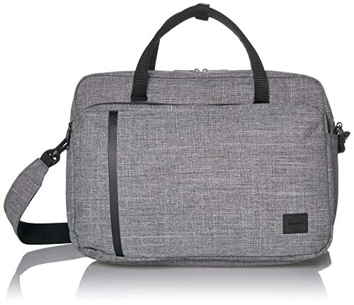 Herschel Gibson Laptop Messenger Bag, Raven Crosshatch, One Size